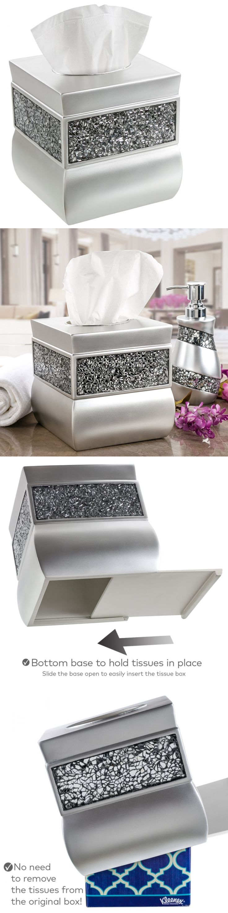 Tissue Box Covers 25452: Creative Scents Tissue Box Cover Square, Decorative Tissue Box Holder Is Finishe -> BUY IT NOW ONLY: $31.37 on eBay!
