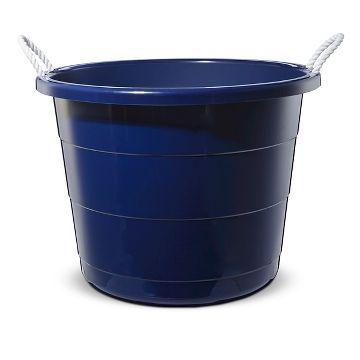 Plastic Storage Tub (Large) Navy - Pillowfort™