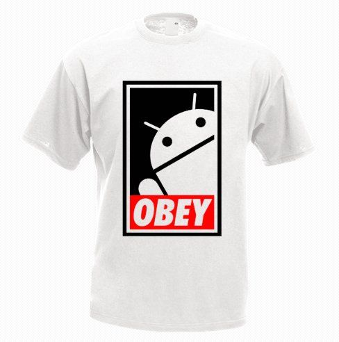 Android OBEY Funny T-Shirt - http://goo.gl/wwB5vh