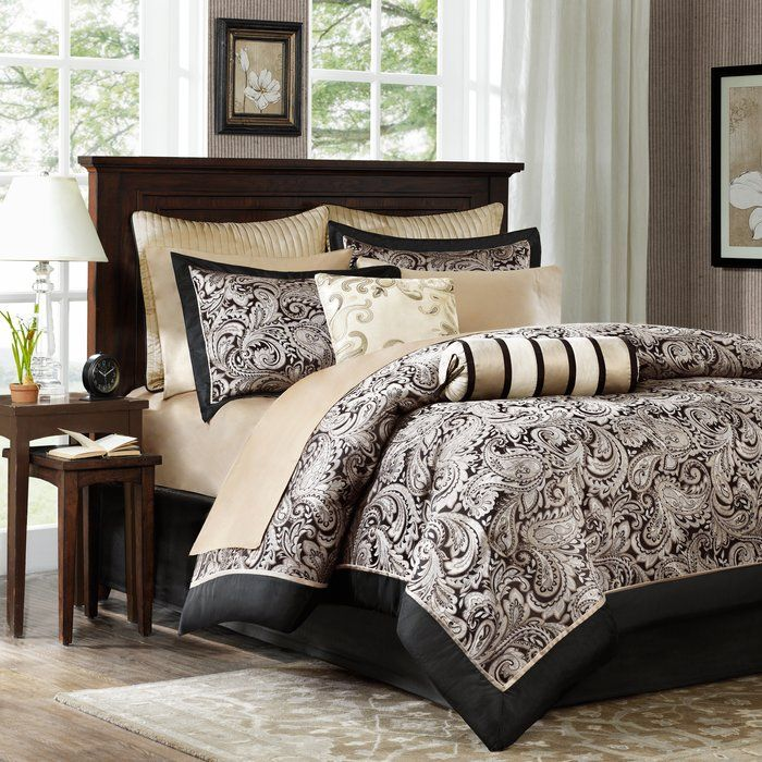 Pereira Paisley Comforter Set 12 Piece Comforter Bed In A Bag Luxury Comforter Sets Paisley Bedding Set Paisley Bedding
