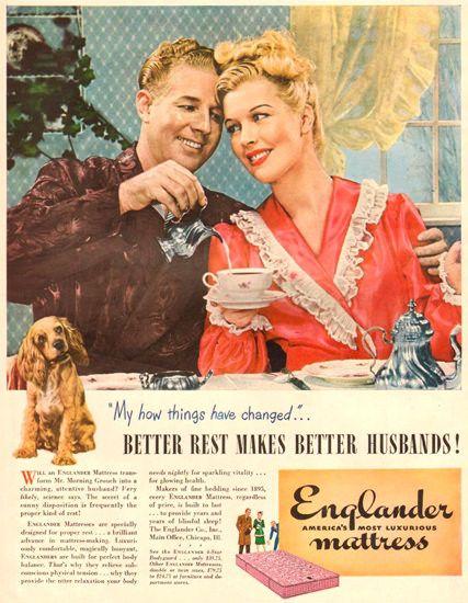 Englander Mattress Makes Better Husbands 1945 - Mad Men Art: The 1891-1970 Vintage Advertisement Art Collection