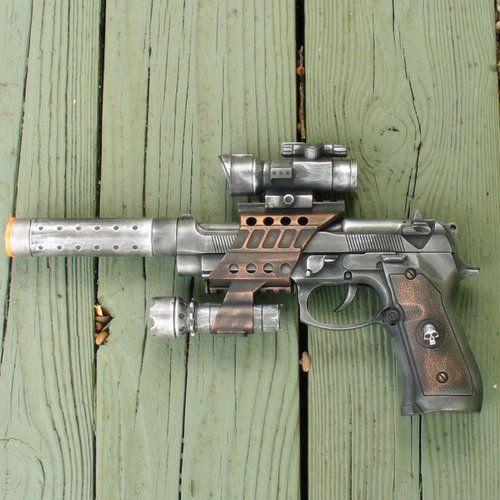 Victorian Steampunk Star Wars intergalactic gun pistol