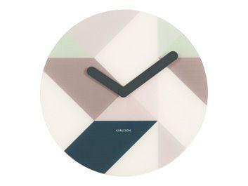 Karlsson :: Zegar ścienny Graphic Glass Blue
