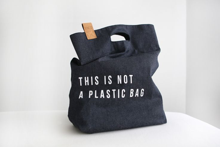 Yaco tas // THIS IS NOT A PLASTIC BAG