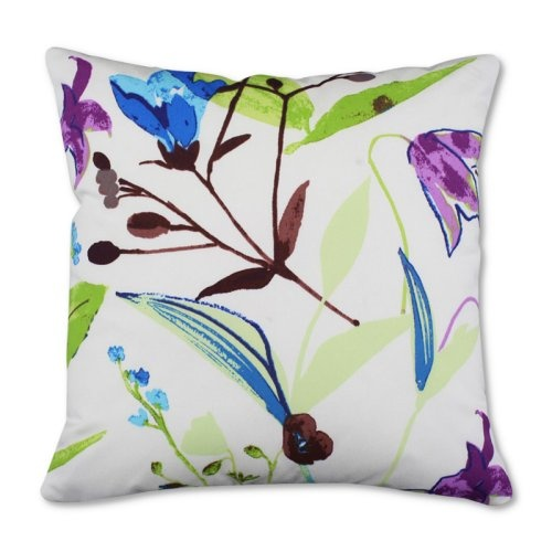 Find it at the Foundary - 19 x 19 in. Outdoor Pillow - Flower Toss Marine - Set of 2