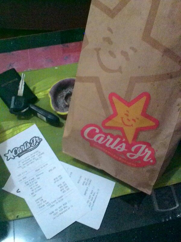 Carl's Jr. Burger beef barbeque  sodalime