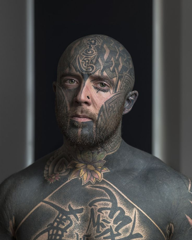 Photographer Tries To Show The People Behind Their Facial Tattoos