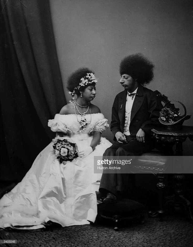 1880: A man and woman from the ancient Aztec tribe of southern and central Mexico, dressed in western-style wedding clothes. The Aztec empire flourished in the 14th - 16th centuries, until it was destroyed by the Spanish invaders. The remaining million or so Aztec people constitute Mexico's largest aboriginal group.