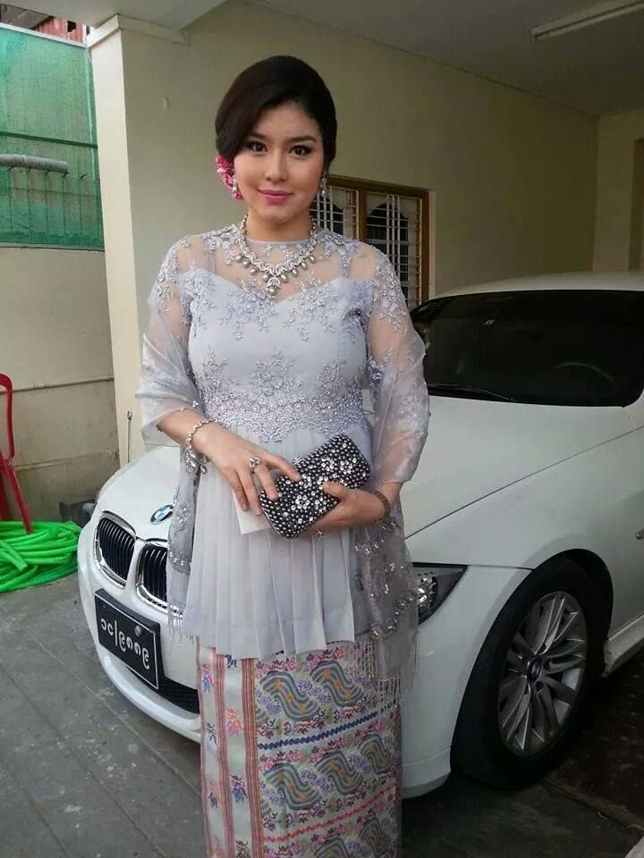 Myanmar Traditional Blouse For Maternity