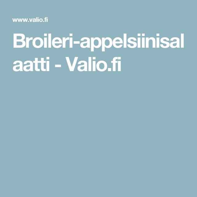 Broileri-appelsiinisalaatti - Valio.fi