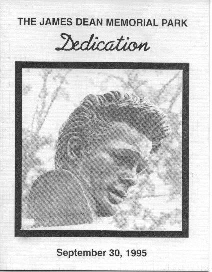 Cover of the four-page folio printed for the dedication of the Memorial Park in Fairmount in 1995 (40th Anniversary).