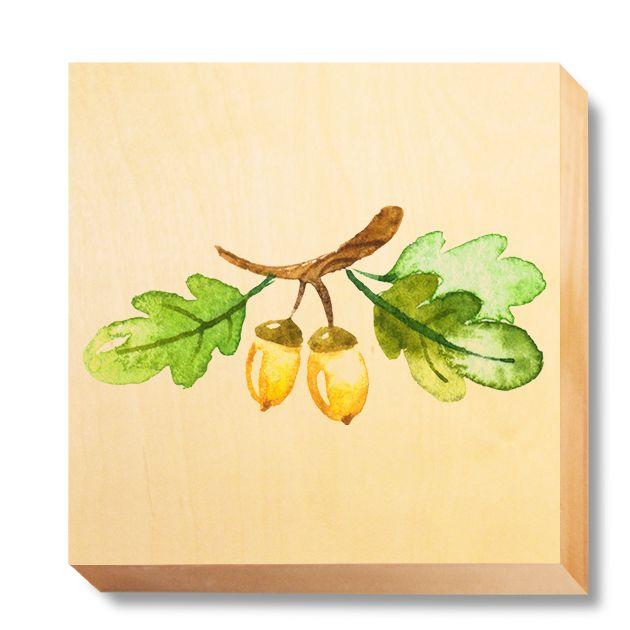 CHI 060 Children's Art - Watercolour Acorns & Leaves