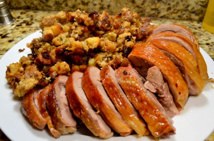 Julia Childs' Deconstructed Thanksgiving Turkey (www.ChefBrandy.com)