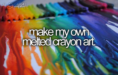 make my own melted crayon art.: Buckets, Crayonart, Melted Crayon Art, Melted Crayons, Things, Bucket List 3, The, Bucket Lists