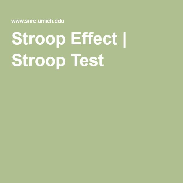 stroop affect Studies have shown reduced stroop interference in bilinguals compared to monolinguals defined dichotomously, but no study has explored how varying degrees of second language fluency, might affect linguistic inhibitory control in the first language we examined effects of relative english fluency on .