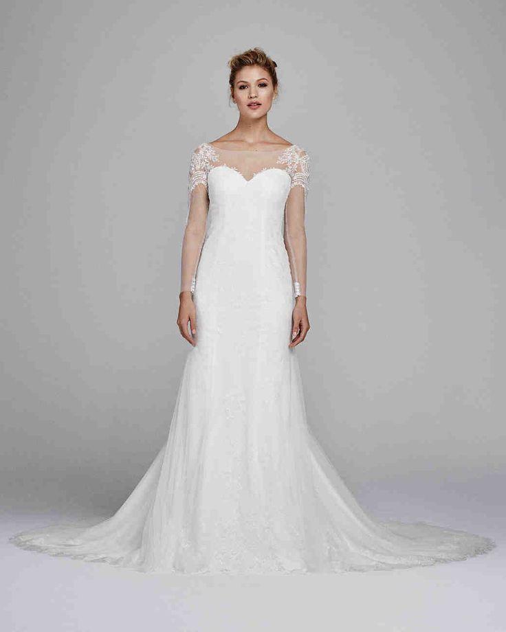 "Kelly Faetanini Fall 2017 Wedding Dress Collection | Martha Stewart Weddings – ""Delphine"" tulle wedding dress with embroidery"