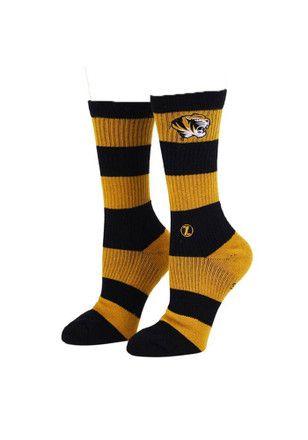 Missouri Tigers Varsity Stripe Crew Socks