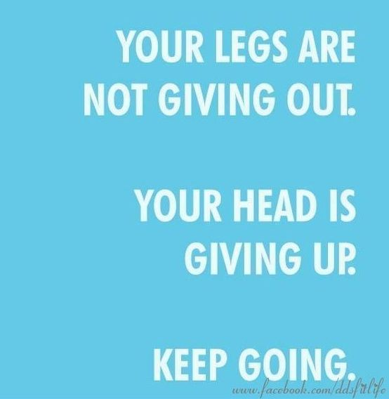 Your legs are not giving out. Your head is giving up. Keep going! Want to change your life? Find me at www.beachbodycoach.com/annariegler