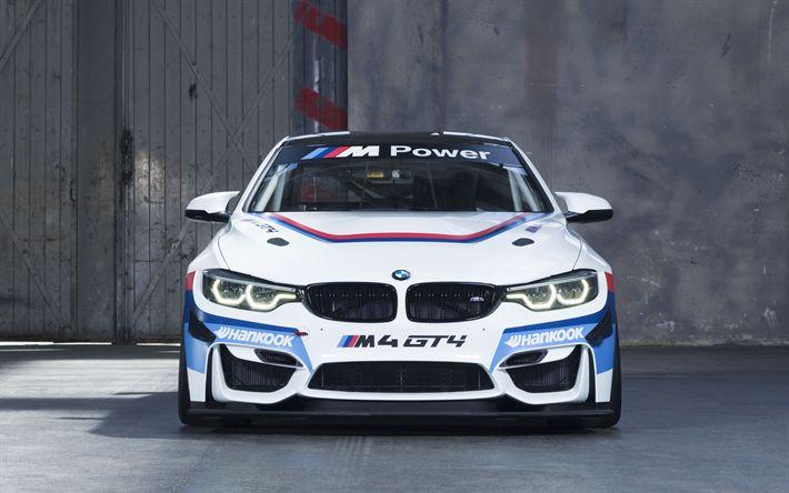 Descargar fondos de pantalla 4k, el BMW M4 GT4, sportcars de 2017, los coches, supercars, BMW