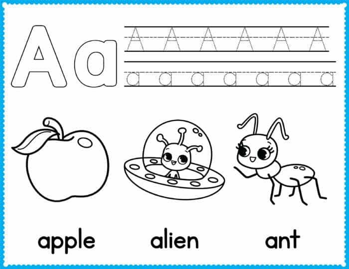 Alphabet Tracing Coloring Pages Alphabet Coloring Pages Preschool Coloring Pages Kindergarten Coloring Pages