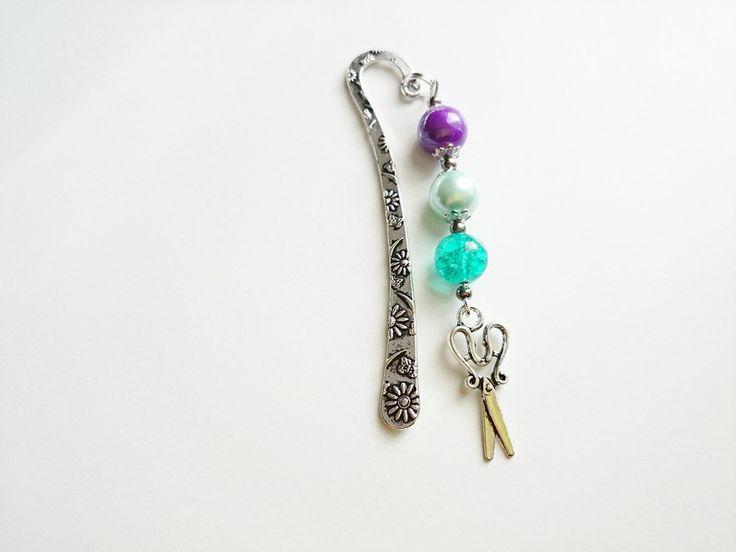 Geschenke für Frauen - Lesezeichen, Schere 8 cm - ein Designerstück von atelier-house-decor bei DaWanda