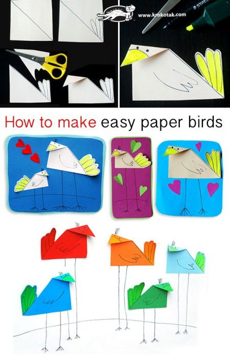 How to make easy paper birds