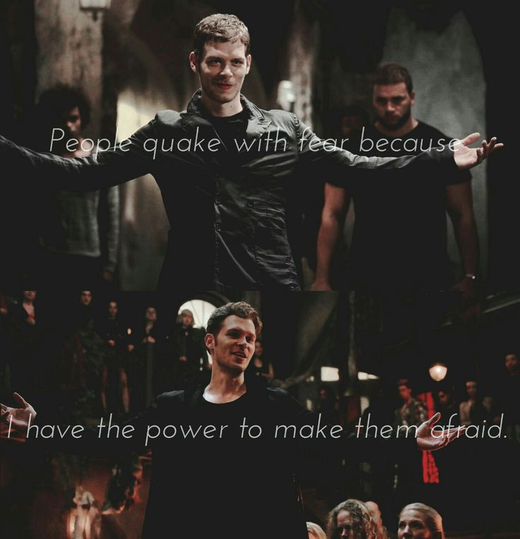 """Klaus Mikaelson Quotes: #TO The Originals Klaus Mikaelson """"People Quake With Fear"""