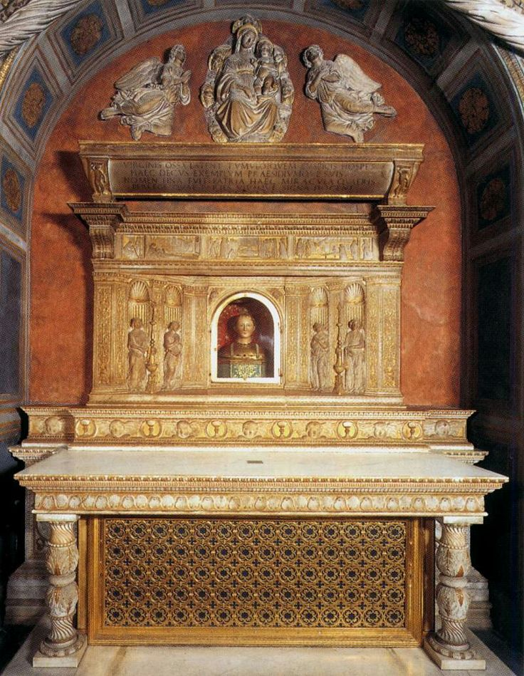 Dossale nella cappella di Santa Fina. Collegiata di San Geminiano