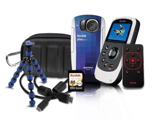 Kodak PlaySport (ZX5) Waterproof Pocket Video Camera Bundle (Includes Remote Control, Tripod, 4 GB Memory Card, HDMI Cable...