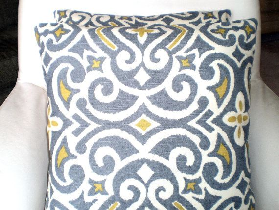Pillows Decorative Pillows Accent Pillows Throw Pillow Cushion Covers 18 x 18 Gray Citrine Cream ...