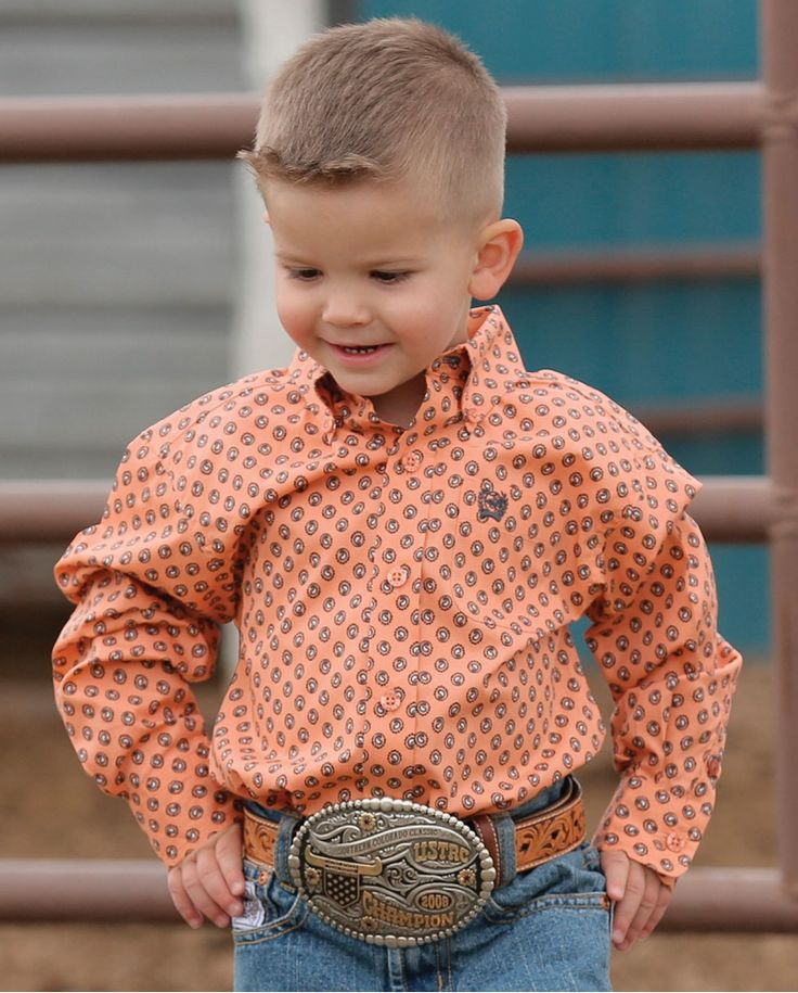 Cinch® Boys' Long Sleeve Plain Weave Shirt - Toddler