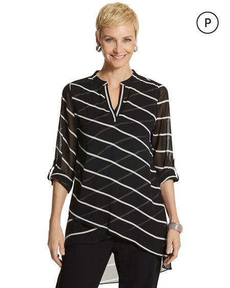 Petite Tulia Graphic Striped Top For C&C?