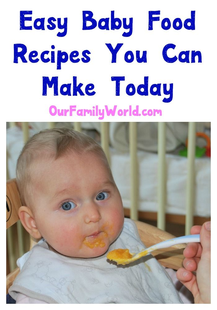 5 Easy Baby Food Recipes You Can Make Today [with videos]