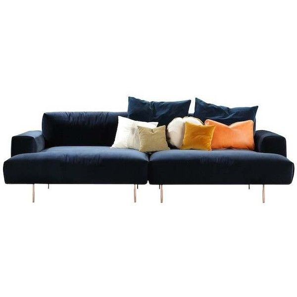 Tiptoe Sofa ❤ liked on Polyvore featuring home, furniture, sofas, modern contemporary furniture, modern classic furniture, contemporary sofa, contemporary sectionals and modern contemporary sofa