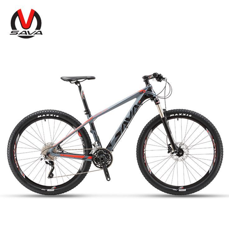 "SAVA DECK300 30 Speed Carbon Fiber MTB Mountain Bike 27.5"" Ultralight Bicycle Cycle M610 Derailleur & Hydraulic Brake - Mountain Bikes For Sale"