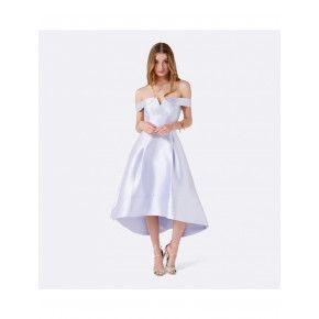 Willow Lila Düşük Omuz Balo Elbisesi