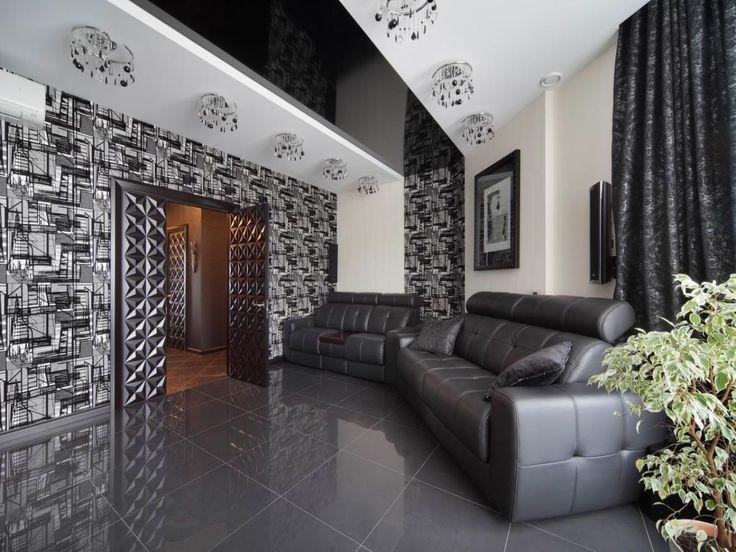 Черно-белый интерьер в комнате с натяжными потолками http://www.vgceiling.ru/cherno-belyj-interer-v-komnate-s-natyazhnymi-potolkami.html  Если вы хотите выразить собственную индивидуальность в декоре и сделать обстановку эффектной и яркой, воссоздайте черно-белый интерьер в комнате. Симфония черного и белого цветов завораживает.  Черно-белый интерьер: создан, чтобы украшать  Два самых простых цвета, близких и контрастирующих друг с другом одновременно – черный и белый. Их сочетание позволило…