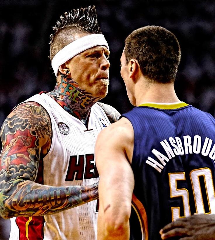 Chris Andersen, o birdman tatuado do Miami Heat. Visual e atitude punk na final da NBA http ...