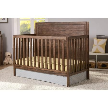 $229.98 - Walmart - Delta Children Cambridge 4-in-1 Convertible Crib - Rustic Oak