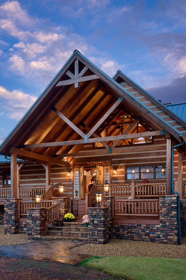 25 best ideas about cabin porches on pinterest rustic for Log cabin screened in porch