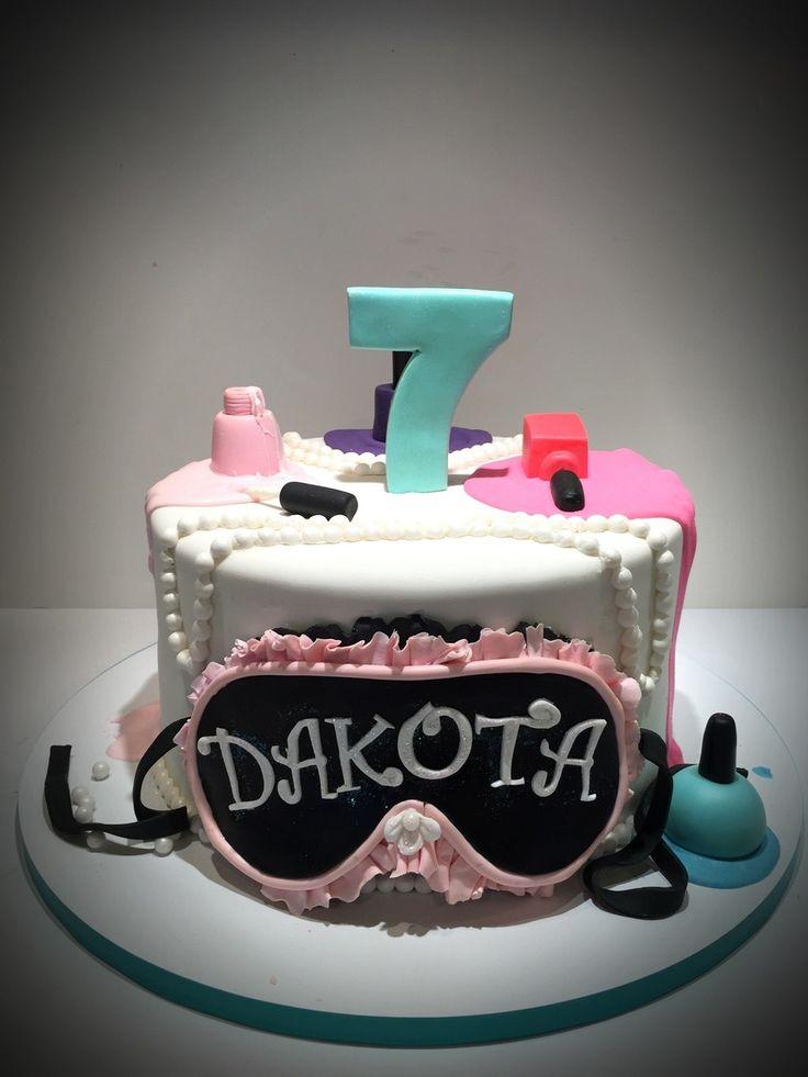 Little Girl Spa Birthday Cake  on Cake Central