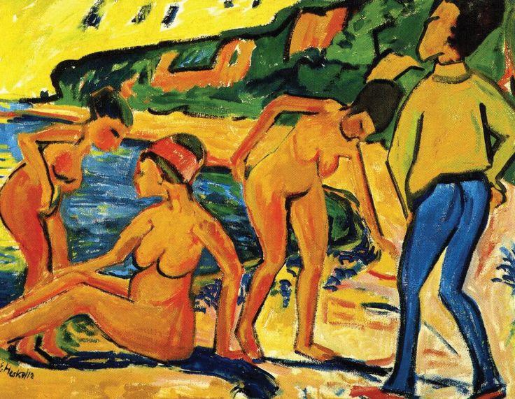 Scene at the Sea, Erich Heckel, 1912