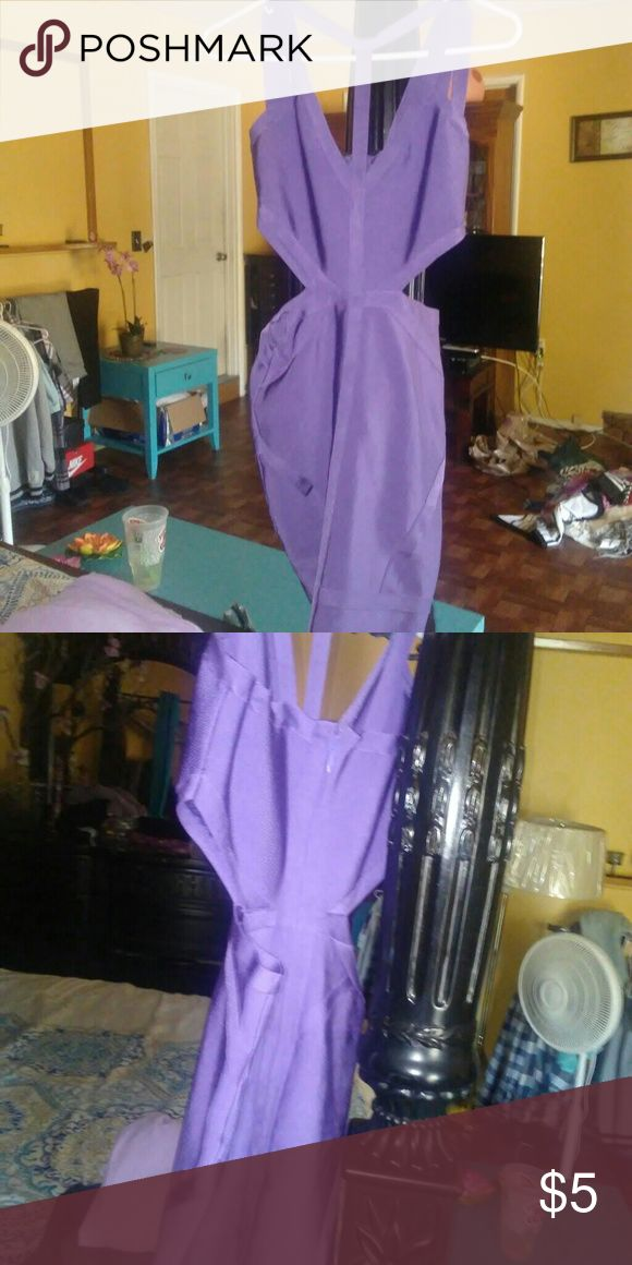 Purple bandage dress Bandage dress Dresses Midi