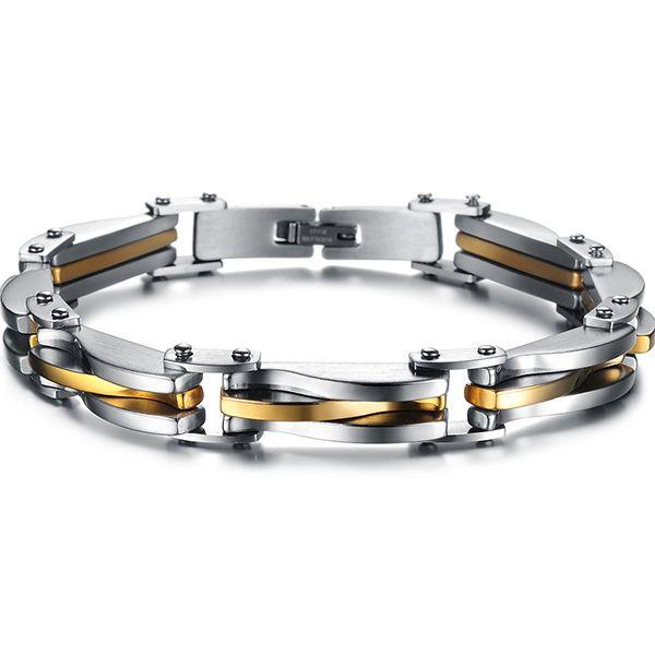 2014 Men Bracelet Fashion Stainless Steel Male Bracelets Bangles Fashion Jewelry (JewelOra BA101037)
