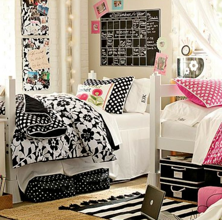Modern Dorm Room Decorating Ideas For Girls. So Cute! Love The Comforters! Part 80