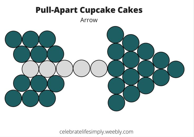 Arrow Pull-Apart Cupcake Cake Templates