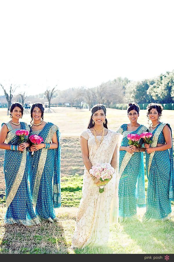 Pink Posh Photography Indian Houston Texas Wedding | White Sari Blue Sari