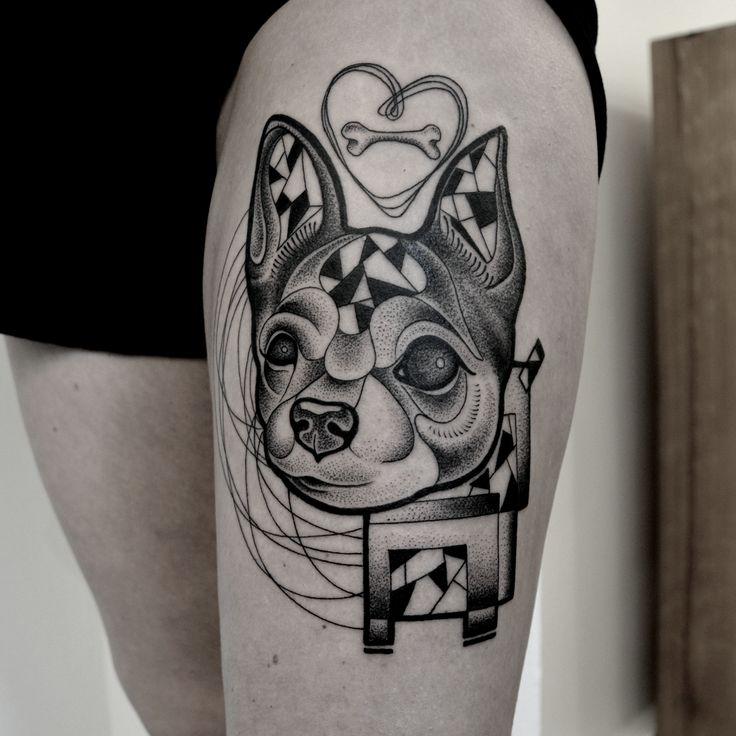 dotwork tatt by @kreska_tattoo