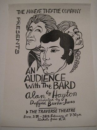 Alasdair Gray: An Audience with the Bard (Annexe Theatre Co.) 1988 poster 42 x 29.5 cm