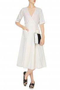 White Marilyn Wrap Dress #white #Marilyn #wrap #dress #simple  #summer-ready #Olio #shopnow #happyshopping #perniaspopupshop